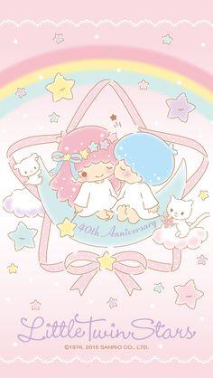 Little Twin Stars Wallpaper 2015 六月桌布 日本官方四十周年系列 – Stargazer