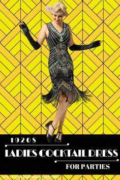 Cocktail Event coming up? Look no further we have the perfect dress for you! Click here to see all our stunning 1920s & Great Gatsby Style Cocktail & Party Dresses - dress to impress! Great Gatsby Dresses, Great Gatsby Fashion, Great Gatsby Party, 1920s Cocktail Dresses, Womens Cocktail Dresses, Gatsby Style, Flapper Style, Party Dresses, Dress To Impress