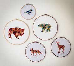 Geometric craft – embroidery, knitting and jewellery | Danni and Charlie do craft