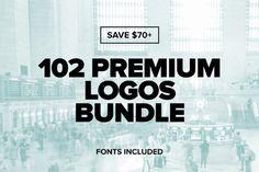 102 Premium Logos Bundle by designerthings on Creative Market