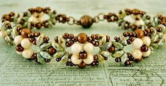 Linda's Crafty Inspirations: Bracelet of the Day: Eclipse Bracelet - Green & Copper