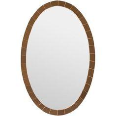 Simpson Silver Wall Mirror Surya Oval Mirrors 20.5 x 31.75- ~$350