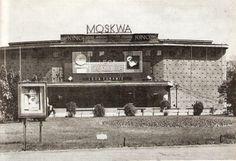 """Kino """"Moskwa"""" na Rakowieckiej ktorego już niema."""