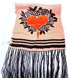 Orange Heart Scarf by Celia Birtwell offered by Arabella Bianco at Grays. Celia Birtwell, Vintage Designs, Great Gifts, Stylists, Take That, Vintage Fashion, Orange, Antiques, Heart