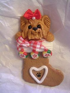 *CLAY ~ yorkie ornaments by claykeepsakes, via Flickr