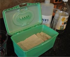 """Homemade Cleaning Wipes-(I Keep A Jug Of """"Mrs Meyers All Purpose Cleaner"""" Made Up at All Times) 1. Layer """"Bounty Select-A-Size Paper Towels """" in An Empty Container. 2. Pour The """"Mrs. Meyers Cleaner"""" Over The Top. Note: I Keep A Small Container On The Kitchen Counter-Note: Works Great-I Am Hooked!!"""