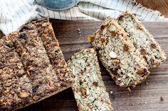 Game Changing Nut & Seed Bread - full of delicious pumpkin and sunflower seeds, dried fruit and nuts. The best toast ever. Quick Bread Recipes, Fun Baking Recipes, Easy Bread, Banana Bread Recipes, Raw Food Recipes, Low Carb Recipes, Bread Dishes, Seed Bread, Gluten Free Sweets