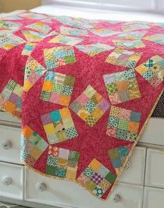 Stars and Nines Quilt - I love how it looks like falling 9-patches but then there's this perfect 6-point star in the negative space.
