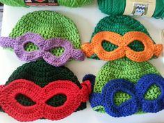 Ninja Turtle Beanie ~ free pattern