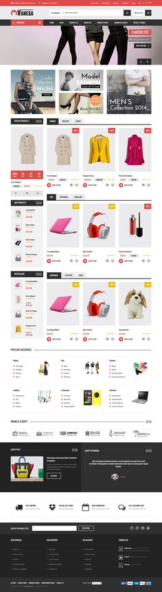 Vanesa - Mega Store Responsive Magento Theme Demo 1 #website #webshop #ecommerce Download: http://themeforest.net/item/vanesa-mega-store-responsive-magento-theme/9430758?ref=ksioks