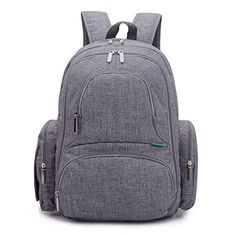 CoolBELL Baby Diaper Backpack With Insulated Pockets/Large Size Water-resistant Baby Bag/Multi-functional Travel Knapsack Include Changing Pad (Grey) Price Best Backpack Diaper Bag, Boy Diaper Bags, Buy Backpack, Large Diaper Bags, Mommy Backpack, Changing Bag, Travel Bag, Baby Travel, Tent Camping