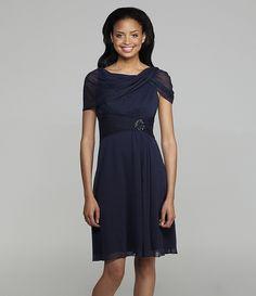 Adrianna Papell Boatneck Dress | Dillards.com | MIDNIGHT