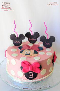 Tarta Minnie Mouse Minnie Mouse cake www.tartasdelunallena.blogspot.com