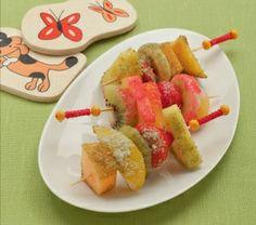 #Spiedinidifruttafresca con zuccheri colorati @guarnireipiatti