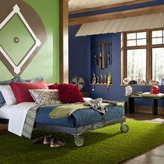 batter up 5 pc twin bedroom decor kid s bedrooms pinterest rh pinterest com baseball themed baby boy room baseball themed room ideas