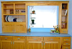 Holiday Natural Hickory kitchenette