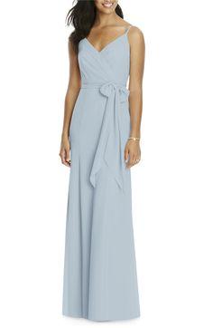 Main Image - Social Bridesmaids Faux Wrap Gown