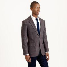 Ludlow sportcoat in windowpane English wool : WOOL | J.Crew