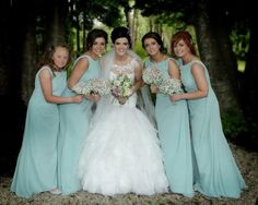 Bridesmaids wear M561 from our True Bridesmaid range