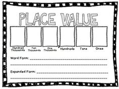 Place Value Activity Mat - great for whole class engagement. Call out a number, or write a number on the board. Students write expanded form and word form. Ask questions like how many hundreds in this number? What number is 1,000 less? etc...
