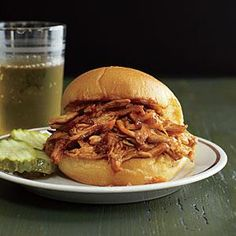 Pulled Chicken Sandwiches Recipe | MyRecipes.com