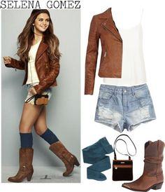 Selena Gomez Style. Love this look!