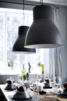 HEKTAR Pendant lamp dark gray