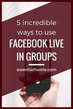 If you're a business owner looking to use Facebook Live in a unique ways online, here are 5 ways you could implement it to grow your business in Facebook Groups.