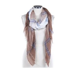 Women's Brown, Blue & White Plaid Sheer Woven Fringe Scarf    Style No: RI_CDF16004NAT  Frayed Edge / Plaid / /Sheer / Woven / Scarf   76 Iinch Long X 34 Inch Wide  65% Polyester 35% Viscose    Shop more of our designs - https://www.etsy.com/shop/3StoresDown  Policies & shipping info - http://www.etsy.com/shop/3StoresDown/policy    All designs & content © .......3StoresDown..... | Shop this product here: http://spreesy.com/3StoresDown/1323 | Shop all of our products at…