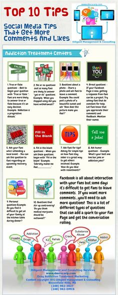 Social Media Tips That Get More Comments and Likes - can be applied to any topic. via @@Myofficebooks - Follow us on TWITTER @The Likeability Co