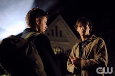 "Supernatural ""Hook Man"" (Episode #102) Image #SN102-0015 Pictured: Jensen Ackles as Dean Winchester, Jared Padalecki as Sam Winchester Credit: ��The WB/Serguei Bachlakovpn"