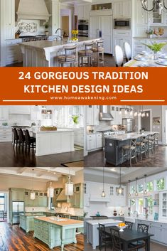 Here are 24 beautiful kitchen design ideas Beautiful Kitchen Designs, Beautiful Kitchens, Traditional Kitchen Interior, Interior Architecture, Interior And Exterior, Interior Concept, Home Decor Inspiration, Dream Homes, Home And Living