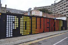 Street art in London by Eine. #typography