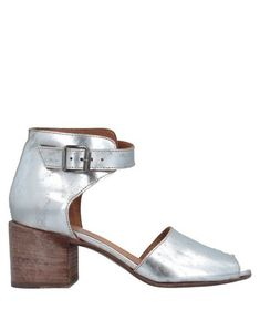 Laminated effect No appliqués Solid color Buckle fastening Square toeline Square heel Leather lining Leather sole Handmade Contains non-textile parts of animal origin Large sized Moma Shoes, Soft Leather, Heeled Mules, Shoes Sandals, Footwear, Animal, The Originals, Silver, Handmade