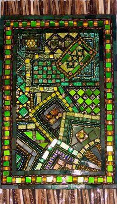 Rajasthani Tapestry Mosaics Mosaic Artwork, Mosaic Wall Art, Stone Mosaic, Mosaic Glass, Stained Glass, Mosaic Designs, Mosaic Patterns, Tea Bag Art, Rustic Crafts