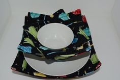Kitchen Motif Microwaveable Dish Cozies Set of 3: by Hot4Handmade