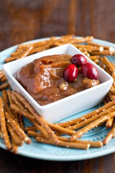 Cranberry Mustard Sauce, like honey mustard but made with cranberry sauce. A great dip for pretzels or glaze for chicken.