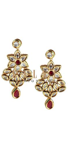 Buy Online from the link below http://www.kalkifashion.com/floral-kundan-studded-danglers.html