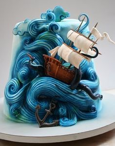 Threadless Long Journey sea monster cake.