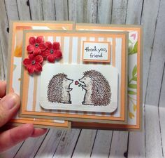 Double Z Fold card front view #stampinup dianespaperdesigns.typepad.com