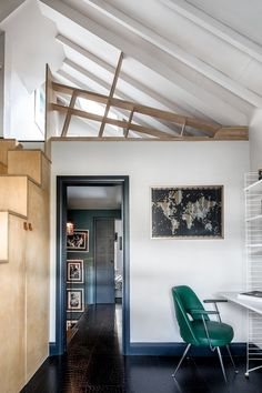 Couple transform narrow London townhouse into a stylish home Separating Rooms, Recessed Shelves, Home, Loft Spaces, Tiny Loft, House, Small Bedroom, Maximalist Interior, London Townhouse