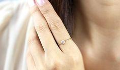 14k Solid Gold Rose Cut White Diamond RingSolitaire by KHIMJEWELRY