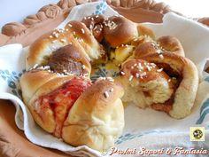 Corona di pan brioche dolce doppio ripieno Blog Profumi Sapori & Fantasia