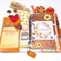 Websters pages planner fall dashboard
