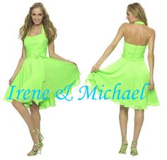strangely tempted by LIME GREEN dress ...