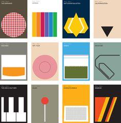 Minimalist TV posters