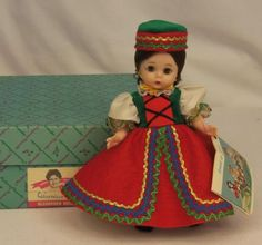"Vintage 1972 Madame Alexander Czechoslovakia 764 International 8"" Doll 