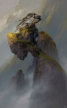Qianyuan mountain, Tianhua Xu on ArtStation at http://www.artstation.com/artwork/qianyuan-mountain