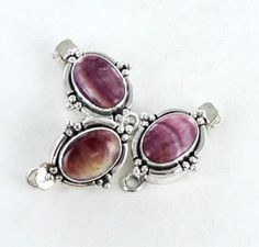 PURPLE SPINY OYSTER CLASP STERLING SILVER 14x10mm from New World Gems