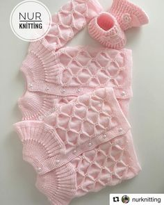 First Size Baby Girl Matinee Jayapılışıc - Diy Crafts - Marecipe Crochet Girls, Newborn Crochet, Crochet For Kids, Baby Girl Patterns, Baby Knitting Patterns, Knitted Afghans, Knitted Blankets, Knitting For Kids, Easy Knitting
